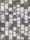 Colorful cobblestone road pavement. Royalty Free Stock Photo