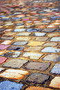 Colorful cobblestones Royalty Free Stock Photos