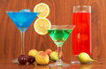 Colorful cocktails Royalty Free Stock Photos