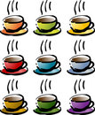 Colorful coffee beverage icon Royalty Free Stock Image