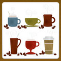 Colorful Coffee Cups Stock Image
