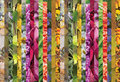 Colorful collage of vertical strips, horizontal. Royalty Free Stock Photo