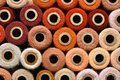 Colorful Collection of Vintage Spools of Craft Yarn Royalty Free Stock Photo