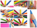 Colorful color crayons Royalty Free Stock Images