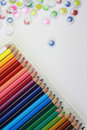 Colorful of colored pencils Royalty Free Stock Photo