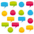 Colorful comic speech bubbles bubble collection Royalty Free Stock Photo