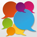 Colorful communication speech bubbles white background on the eps file Royalty Free Stock Photo