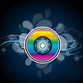 Colorful compact disc Royalty Free Stock Photos