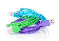 Colorful computer cables Royalty Free Stock Photo