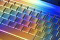 Colorful Computer Keyboard Technology Stock Image
