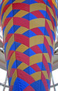 Colorful cone pattern Stock Image