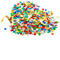 Colorful confetti background. carnival party decoration Royalty Free Stock Photo