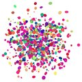Colorful confetti design with transparent background Royalty Free Stock Photo