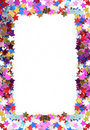 Colorful confetti frame Royalty Free Stock Photography