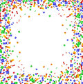 Colorful confetti frame on white background Royalty Free Stock Photo