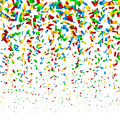 Colorful confetti party background illustration Stock Photos