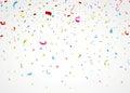 Barvitý konfety na bílém