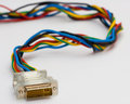 Colorful connection wire i Royalty Free Stock Photography