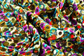 Colorful cotton fabric a closeup of printed Royalty Free Stock Images
