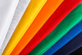 Colorful cotton fabric stack of colorfull Royalty Free Stock Photos