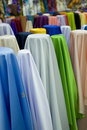 Colorful cotton fabrics on sale Royalty Free Stock Images