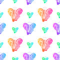 Colorful couple zebra head in heart shape, Royalty Free Stock Photo