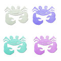 Colorful crab  tissue papercraft Stock Image