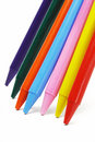 Colorful crayon pencils Stock Photo