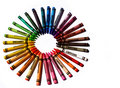 Colorful crayons Royalty Free Stock Photos