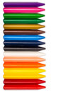Colorful crayons isolated on white background Royalty Free Stock Photos