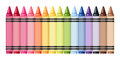 Colorful crayons. Vector illustration. Royalty Free Stock Photo