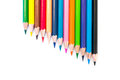 Colorful crayons on a white background Royalty Free Stock Photo