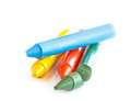 Colorful Crayons On White Back...