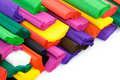 Colorful crepe paper Royalty Free Stock Photo