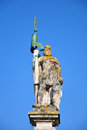Colorful crisp image statue saint jacob straubing bavaria Royalty Free Stock Photography