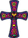 Colorful Cross Stock Photo