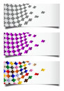 Colorful crosses cards with Royalty Free Stock Photo