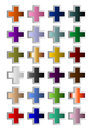 Colorful crosses in the third dimension Stock Photos