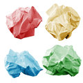 Colorful crumpled paper wads Stock Photography