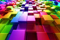 Colorful cubes Royalty Free Stock Photos