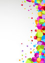 Colorful cubes aside - festive background Royalty Free Stock Photo