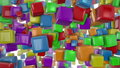 Colorful cubes d animation of Royalty Free Stock Photos