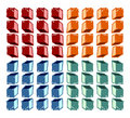Colorful cubes pattern Stock Photography