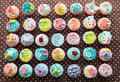 Colorful of cup cakes Royalty Free Stock Photo