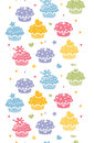 Colorful cupcake party vertical seamless pattern background vector with hand drawn elements Stock Images