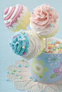 Colorful cupcake pops Royalty Free Stock Photography