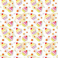 Colorful Cupcake Seamless Pattern Royalty Free Stock Images