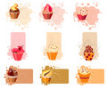 Colorful cupcake set Royalty Free Stock Photo