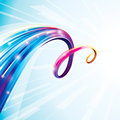 Colorful curve abstract digital technology background Royalty Free Stock Photo