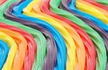 Colorful curved licorice Stock Photo